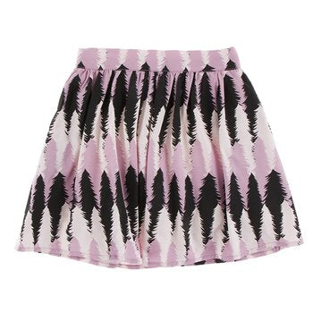 Size Medium - Women's Woven Print Skirt - Midnight Forestry
