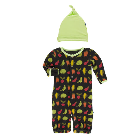 Converter Gown with Hat - Zebra Garden Veggies