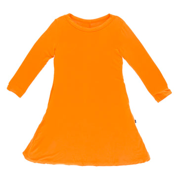 Tee Shirt Dress (Long Sleeve) - Solid Apricot
