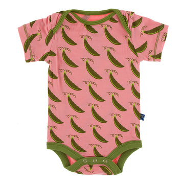 Onesie (Short Sleeve) - Strawberry Sweet Peas