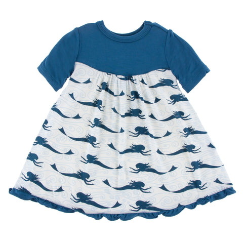 Swing Dress  (Short Sleeve) - Natural Mermaid
