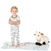 2 Piece Pajama Set (Short Sleeve) -  Natural Tractor and Grass