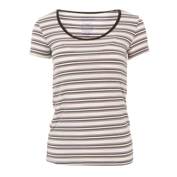 Women's Scoop Neck Tee (Short Sleeve) - India Pure Stripe