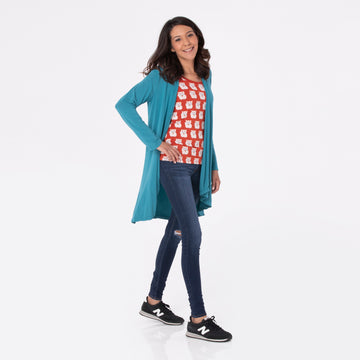 Women's Cardigan - Navy Dragonfly