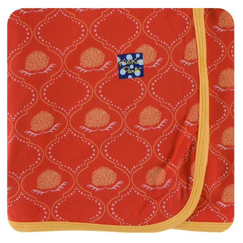 Swaddle - Poppy Marigold Lattice