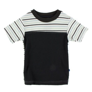 Performance Jersey Yoke Tee (Short Sleeve) -  Zebra with Tuscan Afternoon Stripe