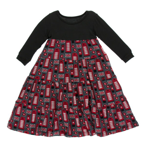 Tiered Dress (Long Sleeve) - Life About Town