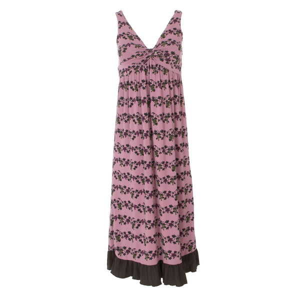 Women's Twist Nightgown - Raisin Grape Vines