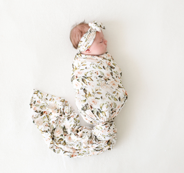 Swaddle + Headwrap Set - Katherine