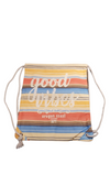 Tote Canvas - Good Vibes Stripes