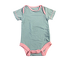 Size Newborn - Onesie (Short Sleeve) - Jade With Lotus