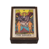 Wood Box - Tarot The Lovers 3 x 4 Inches