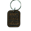 Keychain - Serenity Prayer Etched Wood