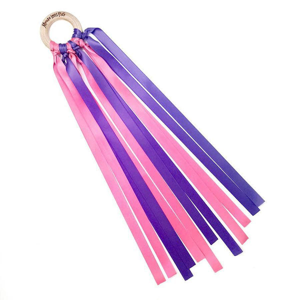 Ribbon Wand - Ballerina Pink/Purple