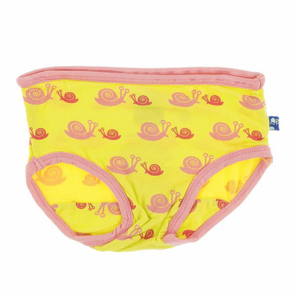 Girl Underwear Set - Banana Snails and Biology Stripe