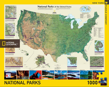 Puzzle - National Parks of the United States - 1000 Pieces