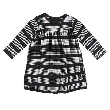 Swing Dress (Long Sleeve) - Zebra Agriculture Stripe