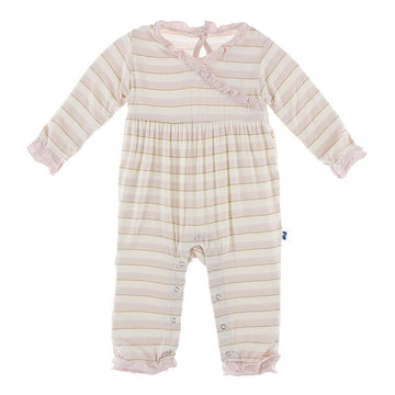 Kimono Ruffle Romper (Long Sleeve) - Everyday Heroes Sweet Stripe