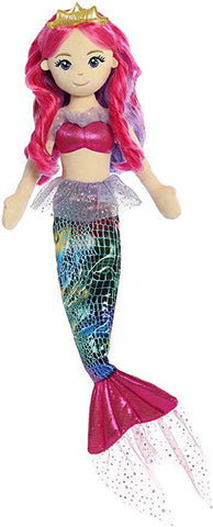 Mermaid Doll - Rainbow Fushia