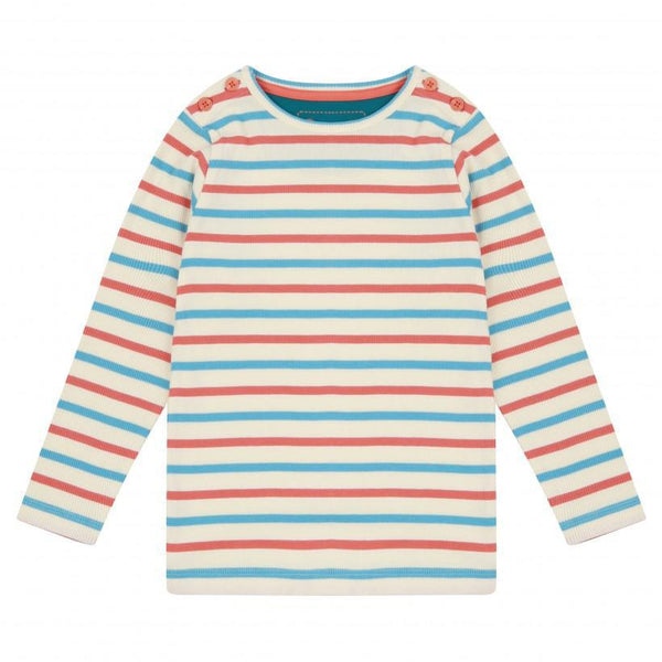 Piccalilly - Striped Rib Top (Long Sleeve)