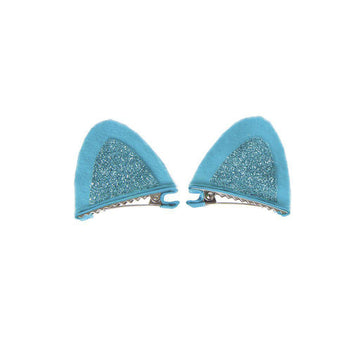 Hair Clip - Sparkle Kitty Set of 2 (assorted colors)