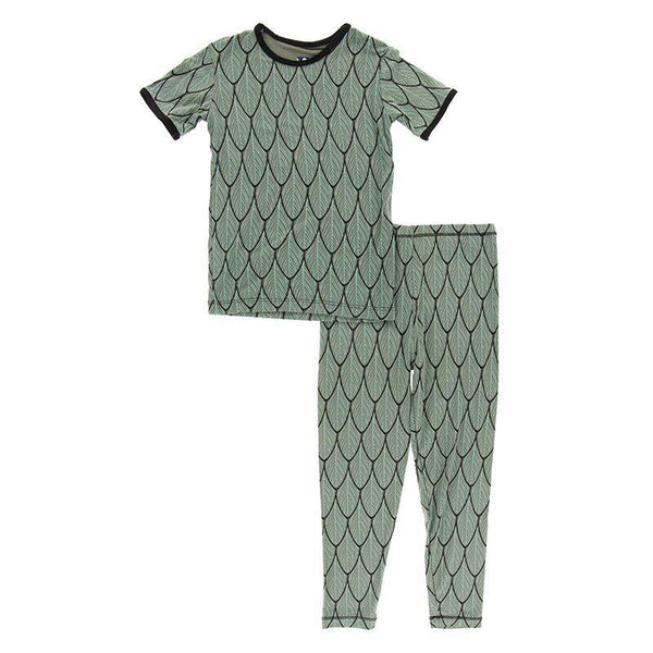 2 Piece Pajama (Short Sleeve) - Midnight Feathers
