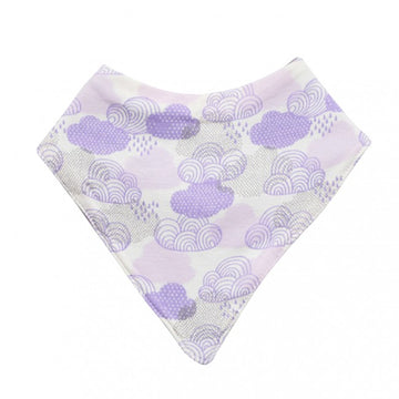 Bandana Bib (Organic Cotton) – Purple Cloud