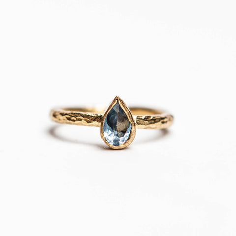 Baby Bleu Tear Drop | Stackable Ring - Turklyn Pazaar - 1