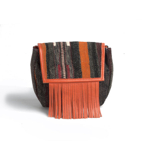 Fringe Kilim Clutch | Crossbody Bag - Turklyn Pazaar - 1