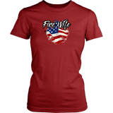 Fire Wife Shirt - Thin Line Style