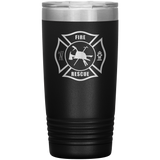 Fire Rescue Maltese Cross Tumbler