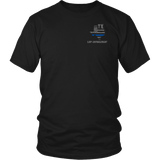 Texas Law Enforcement Thin Blue Line Shirt - Thin Line Style