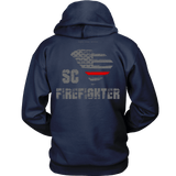 South Carolina Firefighter Thin Red Line Hoodie - Thin Line Style