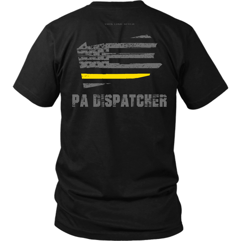 Pennsylvania Dispatcher Thin Gold Line Shirt - Thin Line Style