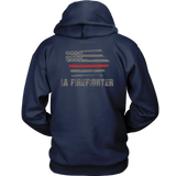 Iowa Firefighter Thin Red Line Hoodie - Thin Line Style