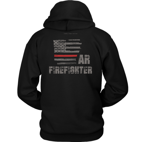 Arkansas Firefighter Thin Red Line Hoodie - Thin Line Style