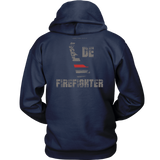 Delaware Firefighter Thin Red Line Hoodie - Thin Line Style