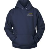 Oklahoma Dispatcher Thin Gold Line Hoodie - Thin Line Style