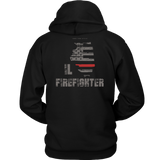 Illinois Firefighter Thin Red Line Hoodie - Thin Line Style