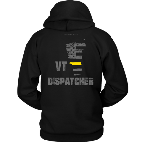 Vermont Dispatcher Thin Gold Line Hoodie - Thin Line Style