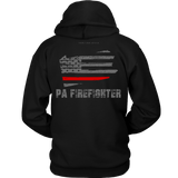 Pennsylvania Firefighter Thin Red Line Hoodie - Thin Line Style