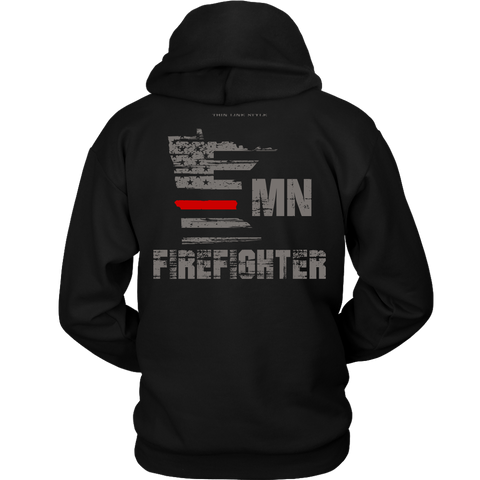 Minnesota Firefighter Thin Red Line Hoodie - Thin Line Style