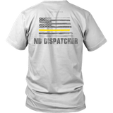North Dakota Dispatcher Thin Gold Line Shirt - Thin Line Style