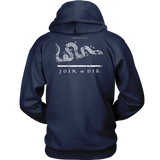 Join or Die Thin White Line EMS Hoodie - Thin Line Style