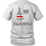 New Hampshire Firefighter Thin Red Line Shirt - Thin Line Style