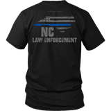North Carolina Law Enforcement Thin Blue Line Shirt - Thin Line Style
