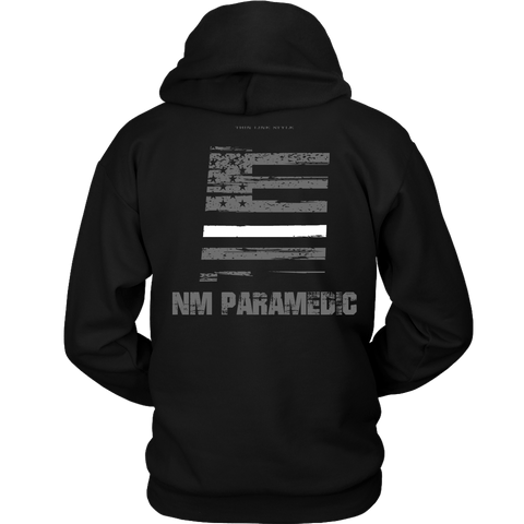 New Mexico Paramedic Thin White Line Hoodie - Thin Line Style
