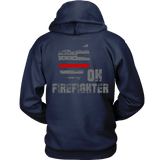 Ohio Firefighter Thin Red Line Hoodie - Thin Line Style