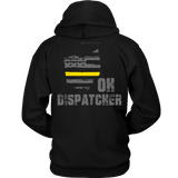 Ohio Dispatcher Thin Gold Line Hoodie - Thin Line Style