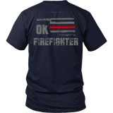 Oklahoma Firefighter Thin Red Line Shirt - Thin Line Style